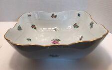 Herend Porcelain Square Salad Serving Bowl Hand painted 180 Eton IV 35