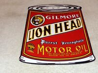 "*NEW* 14.25/"" round GILMORE GASOLINE LION MOTOR OIL GAS GLASS FACE FOR PAM CLOCK"