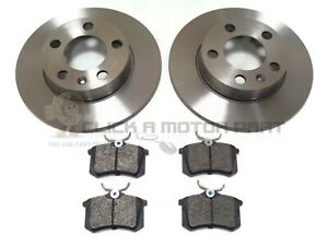 VOLKSWAGEN POLO MK4 ALL MODELS 2002-2009 REAR 2 BRAKE DISCS AND PADS SET NEW