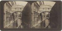 Pont Dei Sospiri Venezia Italia Fotografia Vintage Stereo Stereoview