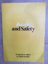 Audi  Safety 1975. U.K.  Market Sales Brochure Audi 50 in VGC