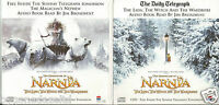 NARNIA LION WITCH WARDROBE & MAGICIAN NEPHEW 2 X PROMO CDs READ BY JIM BROADBENT