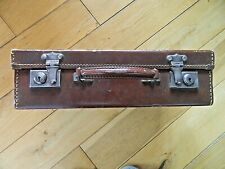 Small Vintage Retro Leather Suitcase Light Brown