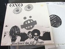 ONO machines that kill people LP NM 1983 rare w/poster! art punk!