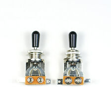 (D45) a set of 2 3 Way Toggle Switch Pickup Selectors black for Electric Guitar
