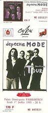 RARE / TICKET BILLET DE CONCERT - DEPECHE MODE : LIVE A PARIS ( FRANCE ) 1993