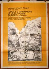 mostra comics Treviso JULES VERNE manifesto 70x100 originale 1980