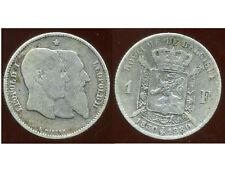 BELGIQUE 1 franc  1880   argent  silver