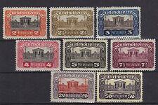 L@@K  STAMPS AUSTRIA  1919/21  PARLAMENT   (MINT/MLH)  lot xx  (Part Set of 8)