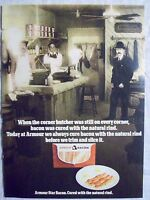 1978 Magazine Advertisement Ad Page For Armour Bacon Butcher Shop Pork