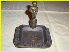 Portacenere usato anni 50 ottone e bronzo, veliero con puttino con scritta Bruxe