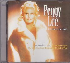 PEGGY LEE - LET THERE BE LOVE  on CD