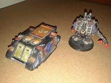 Warhammer 40k  space marine chaos army lot oop rhino and dreadnought