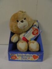 1984 Care Bear Tenderheart Bear with Box & Hang Tag New/ Old Stock