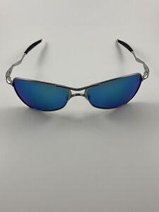 Oakley Crosshair 1.0 Polished Chrome Sapphire Iridium Gen 1 RARE