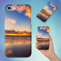 BEACH BLUE CLOUDS COAST HARD BACK CASE FOR APPLE IPHONE PHONE