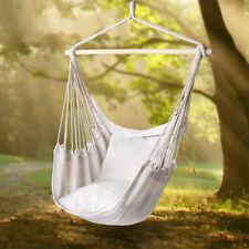 Hanging Chair Garden Outdoor Swinging Hammock Cotton Cushioned Seat