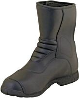 Prexport Passo Black Leather Waterproof Motorcycle Boots New RRP £89.99!!!