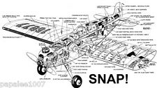 "Model Airplane Plans (Uc): Snap! 34"" Sports Model for .19-.23 by Vern Clements"