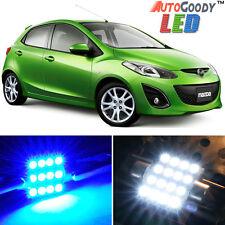 6 x Premium Blue LED Lights Interior Package Kit for 2011-2014 Mazda 2 + Tool