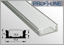 6,50 €/m LED Alu Profil Aufbau Typ W Schiene Strip Leiste Stange flach 1m / 2m