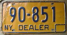 1974-1986 NEW YORK DEALER LICENSE PLATE# 90-851