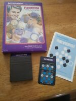 Reversi (Mattel Intellivision, 1981) Box, Manual, Cartridge, 1 Overlay