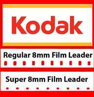 Kodak 8mm & Super 8mm White/Grey Film Leader Combo Pack -LOWEST PRICE w/SHIPPING