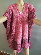 BNWT Womens Sz 22 to 24 Autograph Brand Pink Knit Poncho Style Cardigan RRP $60