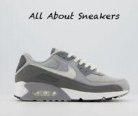 "Nike Air Max 90 ""Light Smoke Grey White Partic"" Trainers Limited Stock All Sizes"