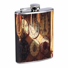 Clocks Em1 Flask 8oz Stainless Steel Hip Drinking Whiskey