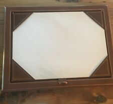 Vintage Leather Desk Pad Blotter Rare 2 Piece Set