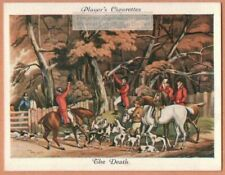 """Fox Hunting With Hounds """"The Death"""" After Alken Dog 1930s Ad Trade Card"""
