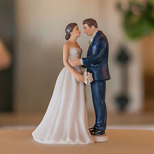 Contemporary Vintage Romantic Couple Wedding Cake Topper