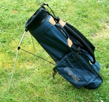 Ping Hoofer Stand Golf Bag 4-Way Divider Blue Dual Strap System Light Weight ++