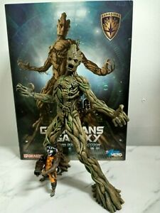 Guardians of the Galaxy Groot with Rocket Racoon Action Hero Model 1:9 Dragon