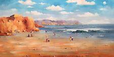 Bondi Beach, 122 x 61cm, Original Oil Painting by N. Knox,