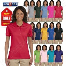 Jerzees Women Polo Shirt Short Sleeve SpotShield Solid M-437W