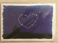 Papyrus greeting card - Happy Valentine's Day Stars in Sky - New in Packaging