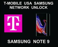 T-Mobile USA Network Remote Unlock Service, Samsung Note 9 All Versions