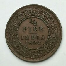 Dated : 1924 - India - 1/2 Pice - Half Pice Coin - King George V