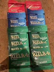Red Blue Green Regular Rizla Rolling Papers Multi Packs Job Lot Bundle 6 Packs