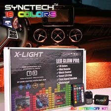 Full Color LED Interior Car Kit Under Dash Footwell Seats Inside Lighting