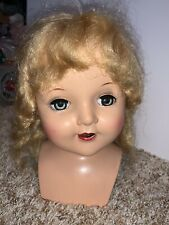 "Vintage Head For 30"" Doll Composition Hard Plastic Halco 1940's"