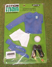 VINTAGE ACTION MAN 40th sportivo in massa Football Club Maglione Blu E Calze 1/6