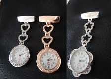 Personalised Nurse / Carers Fob Watch - ROSE GOLD / SILVER - Round/ flower shape