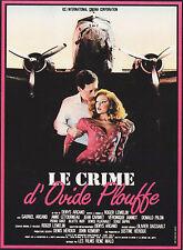 Affiche 120x160cm LE CRIME D'OVIDE PLOUFFE 1984 Gabriel Arcand, Anne Létourneau