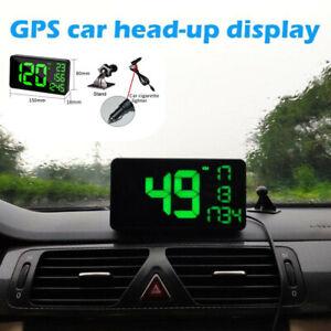6.2'' Universal Car Truck GPS Based Speedometer HUD MPH& KM/h Overspeed Warning