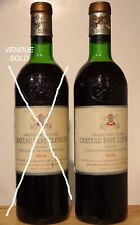 Vin Chateau PAPE CLEMENT 1976 Graves Grand Cru Classé Bordeaux rouge wein wine