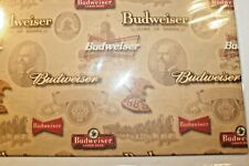 Vintage Anheuser Busch Budweiser Beer Wrapping Paper Gift Wrap Male Dad New Nos